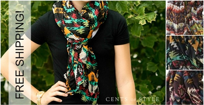 Free Shipping on Aztec Scarves! – 3 Styles