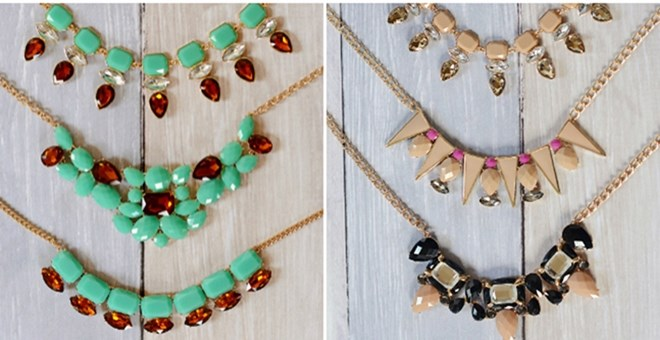 Seafoam & Neutral Statement Necklaces! – 6 Styles