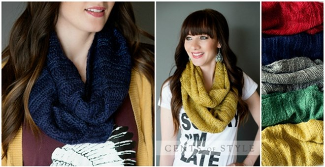 Perfect Knit Infinity Scarf with Slight Shimmer!