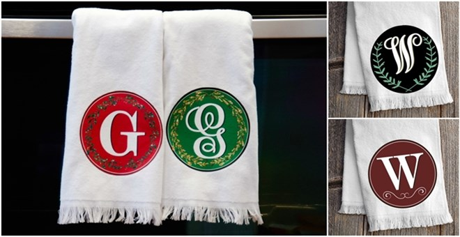 Monogrammed KitchenTowels!