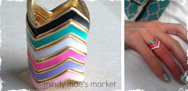 Skinny Stackable Chevron Rings – 6 color options!