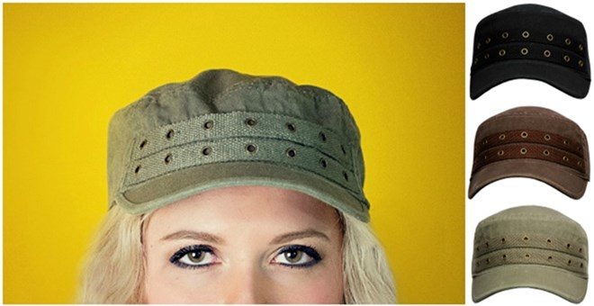 Cadet Hat with Rivets – 3 Colors!