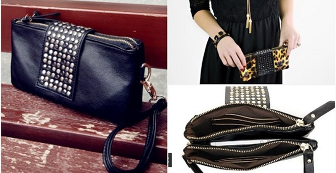 Stylish Clutch With Adjustable Strap in 4 Fabulous Colors! Quick Ship!