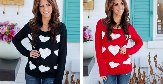 Adorable Heart Sweater!