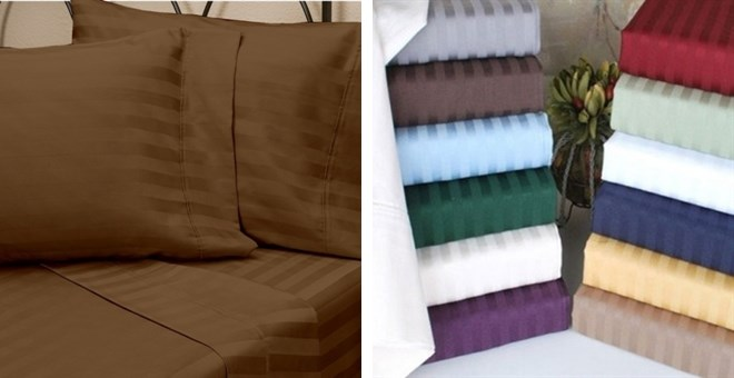 4 pc. Embossed 1800 Bed Sheet Series | Reduced Price!