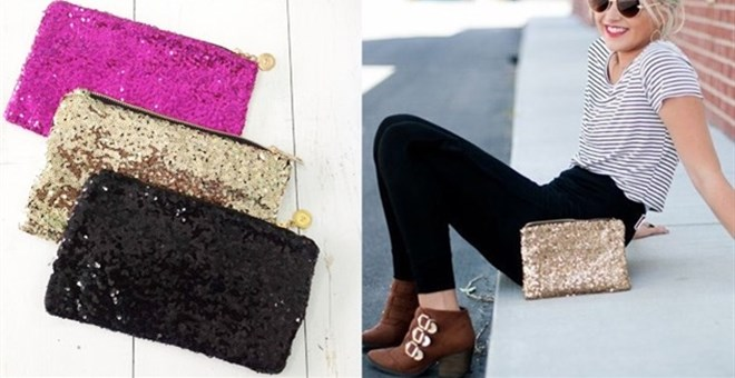 Sequin Clutch Purse