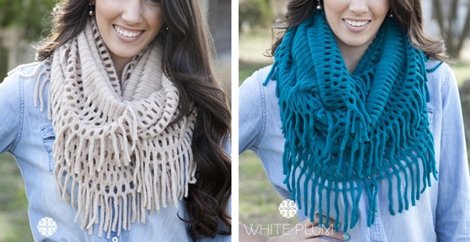 Denali Fringe Infinity Scarves! 12 Color Options!