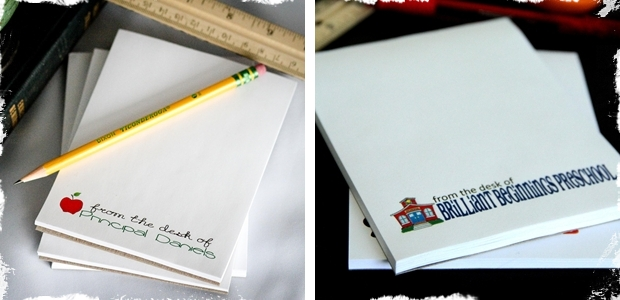Personalized From the Desk of Notepads! Great gifts for teachers and co-workers!