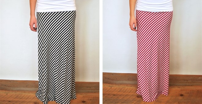 Candy Striped Maxi Skirt - 6 colors