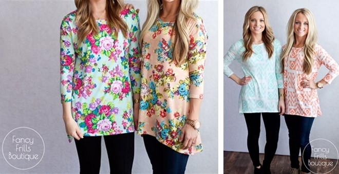 Best Selling Asymmetrical Printed Tunic- New Prints!