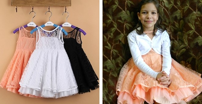 Girls soft lace ballet dresses, 3 colors Size 3t – 10y