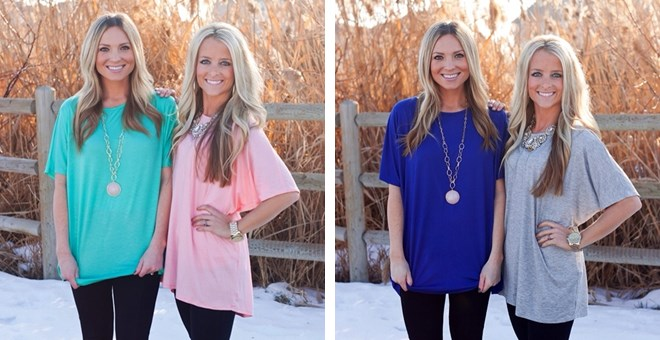 Perfect Short Sleeve Tunic Top- NEW COLORS!