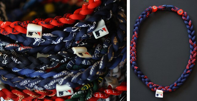 NFL and MLB braided titanium necklaces!  Blowout Pricing!  Perfect Easter basket gift!
