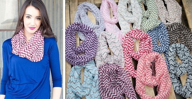 Chevron Infinity Scarves! 18 Colors Available!