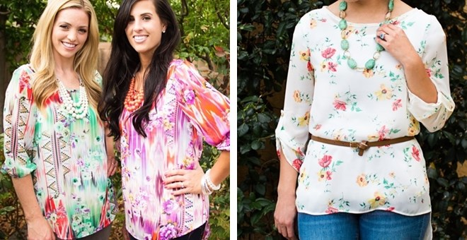 Hi-Lo Floral Chiffon Tops 6 options!
