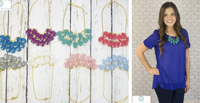 New Colors! Droplet Statement Necklace! – 8 Colors!