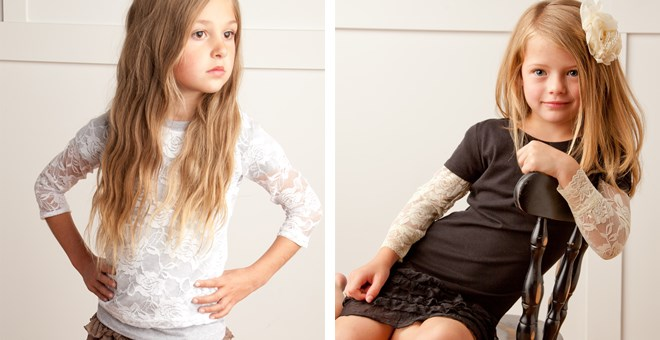 Lace Shirts for Girls!