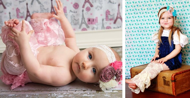 Vintage Spring Lace Leg Warmers for babies and toddlers!  Perfect for Photography