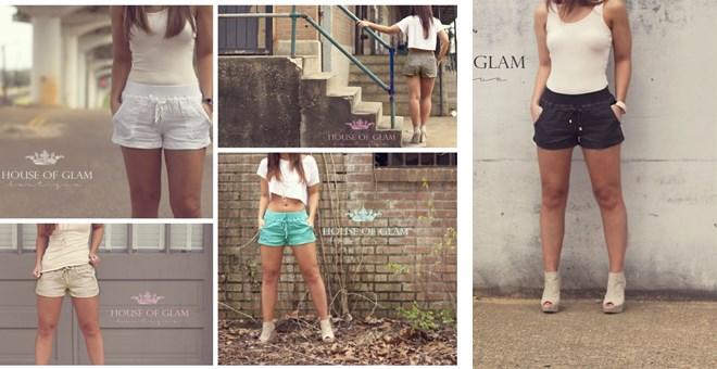 LINEN SUMMER SHORTS IN 5 COLORS!