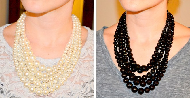 Stunning Layered Pearl Necklaces with FREE Matching Earrings