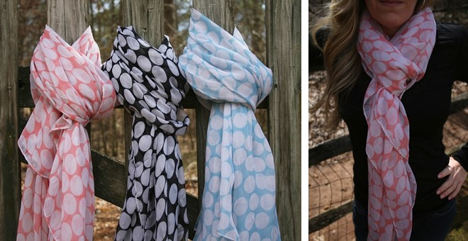 Polka Dot Scarves for Spring