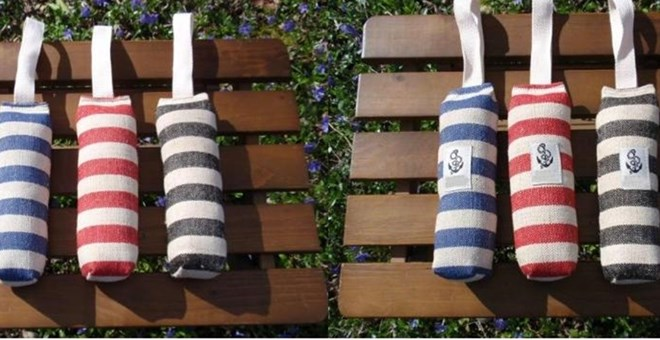 Nautical Hemp Buoy Dog Toy