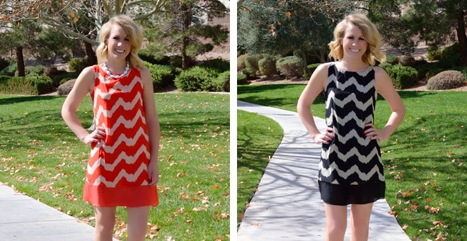 Spring Chevron Dresses – 3 colors!