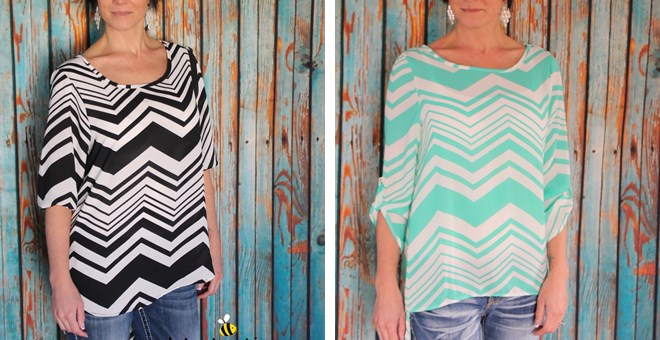 Hottest Chevron Hi Lo Tunic – 3 Colors