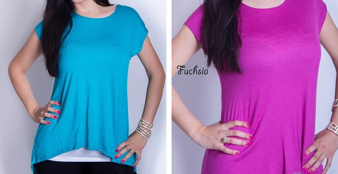 Short Sleeve High Low Tunic – Quick Ship!
