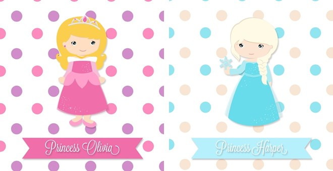 Personalized Princess Print