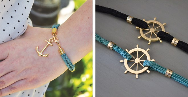 Fun Nautical Rope Bracelets – 2 Styles