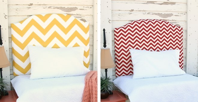 Geometric Wall-Mounted Twin Size Upholstered Headboards