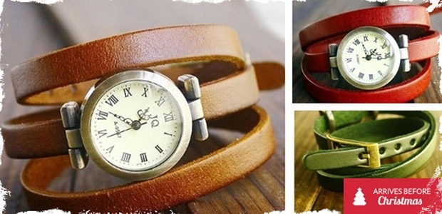 Vintage Wrap Watch - 5 Colors to Choose From!