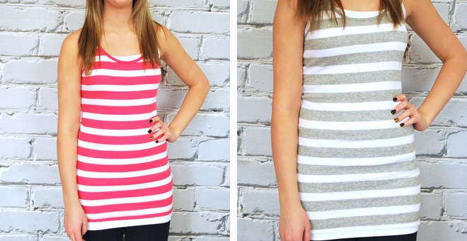 Long Ribbed Striped Tank Blowout Sale- 8 colors