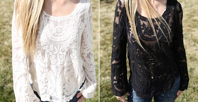 Gorgeous Lace Embroidered Tops!