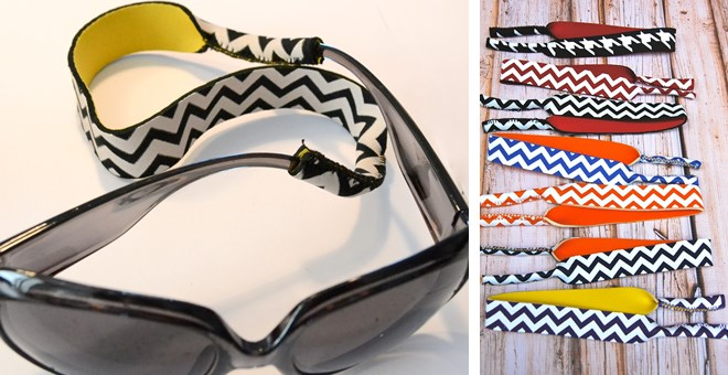 Neoprene Sunglasses Straps in 17 Color Combinations!