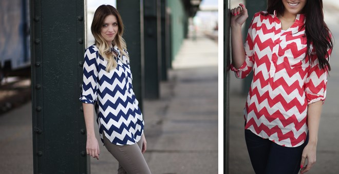 Chevron Tunic - 3 Colors