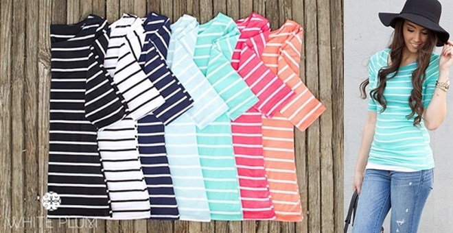 Stripes Ahoy Tee! 7 Color Options!