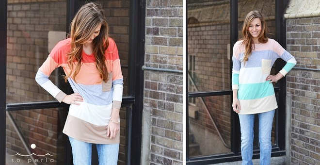 Color Block Spring Tunic