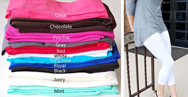 Spring Capri Leggings in 11 Colors!