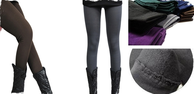 Velvet Lined Fleece Leggings – 8 Color Options