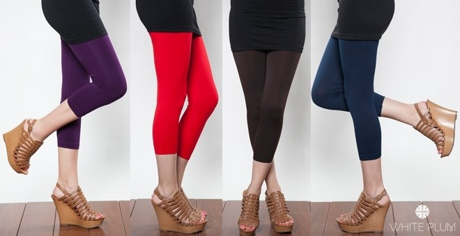 White Plum's Solid Colored Capri Leggings! Special Price! 7 Colors Available!