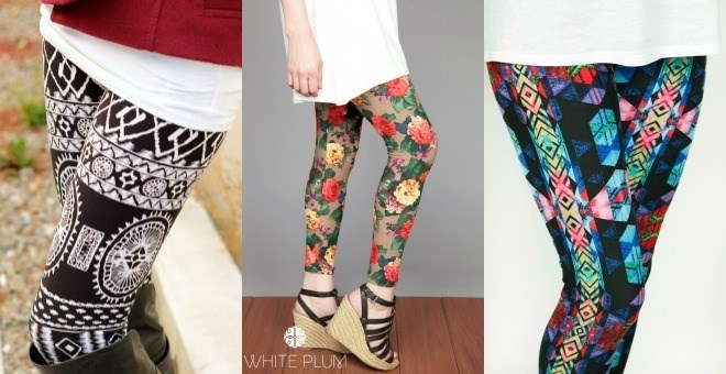 White Plum's Print Leggings! New Styles Available!