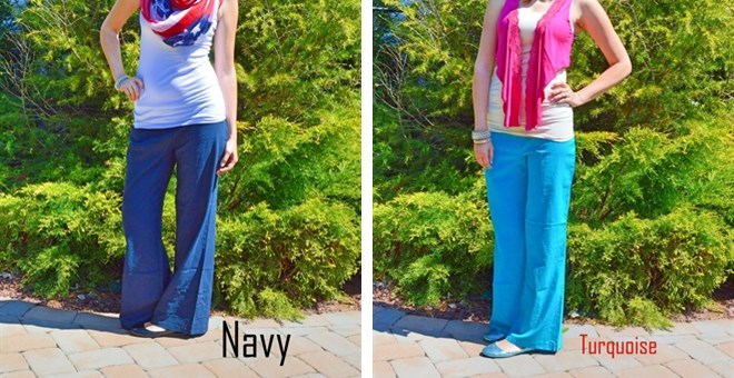 POPULAR FOLDOVER LINEN PANTS IN 4 COLORS