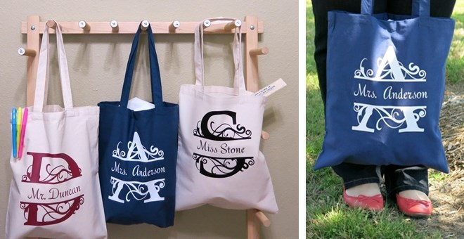 Teacher Tote Bags – Ends of School Year Bags for Teachers