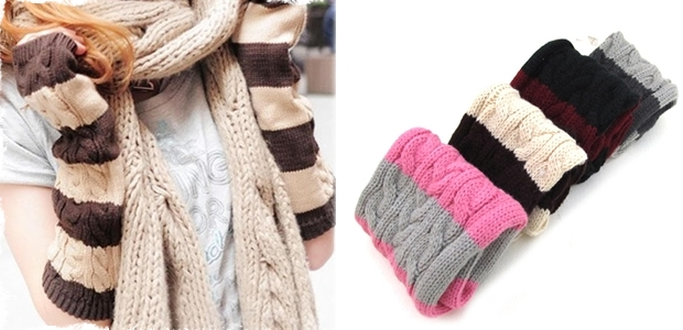 Adorable Fingerless Gloves - 4 Different Colors!