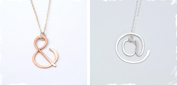 Sweet Shapes Necklaces in Precious Metal!