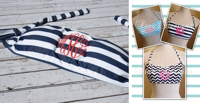 Personalized Bandeau Swim Top