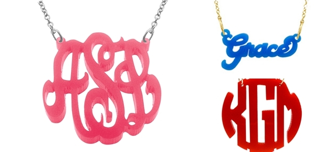 Hand-Cut Personalized Acrylic Jewelry!