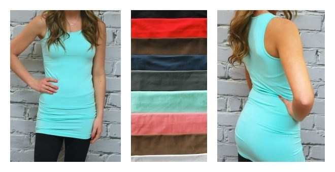 Extra Long Thick Strap Layering Tanks - 10 colors  Tanks - 9 colors